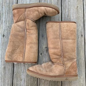 Tall Classic Brown Uggs, size 8